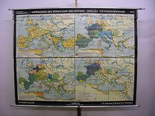 Murs carte belle vieille romain empire coucher 203x158cm vintage map