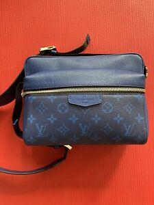 100% Authentic Louis Vuitton Shoulder Bag Outdoor Messenger Pm Taigarama Cobalt