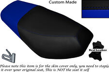 BLACK & ROYAL BLUE CUSTOM FITS CPI OLIVER SPORT 50 DUAL LEATHER SEAT COVER ONLY