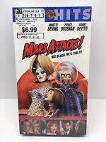 Mars Attacks VHS Jack Nicholson Glenn Close Danny Devito Pierce Brosnan Sealed