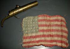 New listing 1865 36 Star Civil War Parade Flag Found In Barrel In Brass Percussion Cap vafo