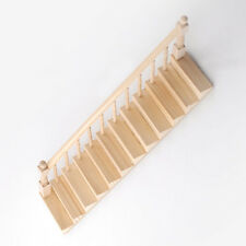 Ready Assembled  Staircase With Banister Left Side Dolls House Stairs