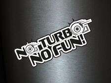 1 x Aufkleber No Turbo No Fun Turbo Shocker Sticker Tuning Static Stance Fun Gag