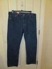 LEVIS ORIGINAL 501 STIFF BLUE JEANS STRAIGHT LEG BUTTON FLY 40X34 NWT RETAIL $68