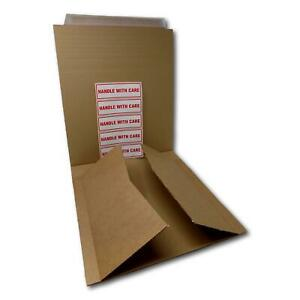 """12"""" 125gsm B-Flute Record LP Strong Peel Seal Corrugated Card Brown Mailers"""