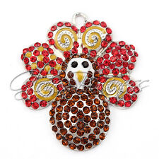 1PC 50*42mm Thanksgiving Day Turkey Pendant For Bubblegum Chunky Bead Necklace