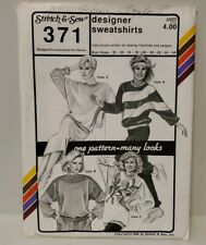 Vintage Stretch & Sew Sewing Pattern Designer Sweatshirts, 371, 1986