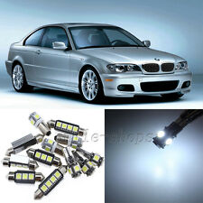 White 17pcs Interior LED Light Kit for 1999-2005 BMW E46 M3 318i 323i 325i 328i