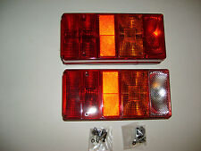 2 x REAR TAIL LIGHTS LAMPS LORRIES TRAILERS TRUCK CHASSIS