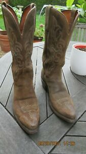 LUCHESSE 1883 COWBOY BOOTS-NV4003.S54 WNS OLIVE BURN WAX from USA.