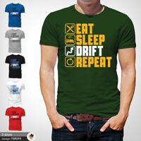 Drift Racer T Shirt Mens Tshirt Green T-Shirt Eat Sleep Repeat Large Cotton XXL