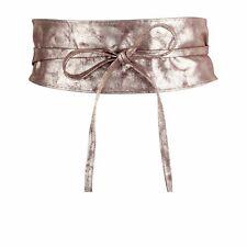 Cintura FUSCIACCA grande con laccetti donna vita alta finta pelle BRONZO