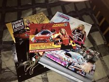 Courtney Force signed autograph Hero Card photo lot of 5 NHRA