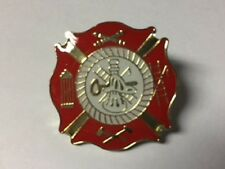 FIRE DEPARTMENT ASSORTED IMAGES RED LAPEL PIN HAT TAC NEW
