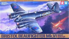 1/48th scale WWII Bristol Beaufighter Mk.VI Nightfighter model kit by Tamiya #64