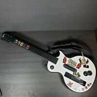 Nintendo Wii Guitar Hero Gibson Les Paul Guitar Controller Wireless White +Strap