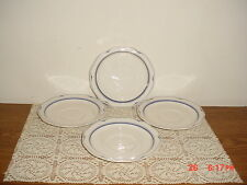 "4-PC NORITAKE ""CLEARLAKE"" SAUCERS/7914/JAPAN/STAMPEDWHITE-BLUE/CLEARANCE!"