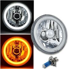 "5-3/4"" Switchback White Amber LED Halo DRL Turn Signal Angel Eye Headlight EACH"