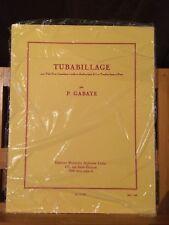 P. Gabaye Tubabillage pour tuba ou contrebasse et piano partition éditions Leduc