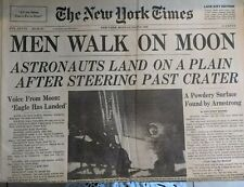 1969 New York Times & NY Daily News - LOT - Men Walk on the Moon - Excellent