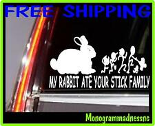 MY RABBIT ATE YOUR STICK FAMILY VINYL DECAL STICKER CAR TRUCK