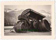 HAMM Straßenwalze altes Baumaschinen Foto Bayrischzell Vorkrieg Winter um 1925