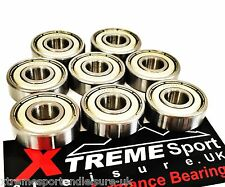 * 8 Pack 627 Xtreme Classic High Performance cuscinetti Roller Skate Inline QUAD