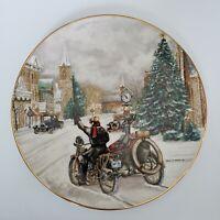 "1986 Harley-Davidson Holiday Christmas Plate Limited Edition ""Mainstreet U.S.A."""