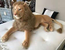 Large Luxury Soft Plush Cuddly Lion Decorative Wild Animal Ornament Quality New