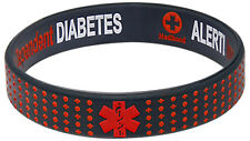 Diabetes Insulin Dependent Silicone Wristband Medical Alert ID Bracelet Mediband