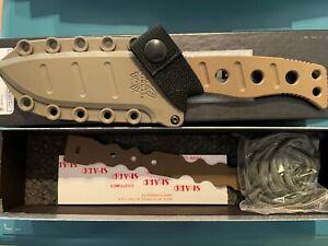 """Benchmade 375FE-1  Fixed Adamas Fixed Blade Knife Black Paracord 4.2"""" Black Blad"""