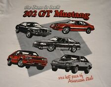 Vtg 80s Ford Mustang T Shirt Size Large Fox Body Boss Gt 50/50 Screen Stars L
