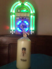 Prince candle gift Christmas birthday rock legend music icon white