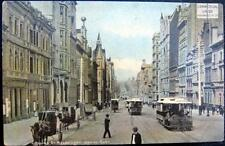 AUSTRALIA  ~ 1900's MELBOURNE ~ COLLINS STREET ~ Horse Buggy ~ Trolleys & More!