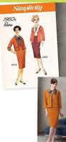 PATTERN Retro '60s Jackie MCM Skirt Jacket Cardigan Suit Simplicity 2154 6-24