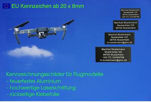 EU Plakette, Kennzeichnung, Kennzeichen, Drohnen, Flugmodelle, RC Modellflugzeug
