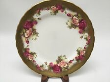 Heavy Golden Rose By Royal Chelsea Salad Plate England Bone China MINT!