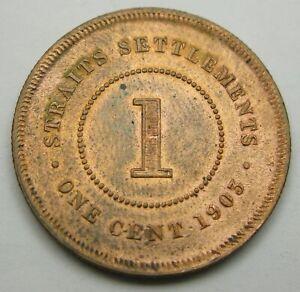 STRAITS SETTLEMENTS (British) 1 Cent 1903 - Bronze - Edward VII. - VF - - 1322