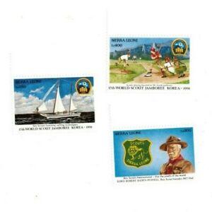 VINTAGE CLASSICS - Sierra Leone 1443-5 Boy Scouts - Set Of 3 Stamps - MNH