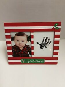 """Tricoastal Design """"My First Christmas"""" 2-Opening 3"""" X 4"""" Easel Picture Frame"""