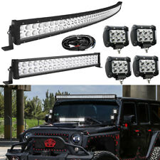 "52Inch 700W LED Light Bar Combo+22inch+4"" 18W For Jeep Wrangler JK YJ TJ CJ LJ"