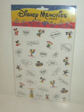 WALT DISNEY WORLD MEMORIES CHARACTER & VOICE BALLOON STICKERS FOR YOUR PHOTOS