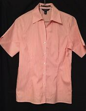 Lands End Shirt Size 8 Petite Non Iron Pinpoint Oxford Pink Cotton