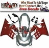 ABS Plastic Injection Silver Red Fairing Kit For Honda CBR600 F4 99 00 1999 2000