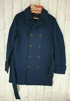 Superdry Idris Elba Navy Blue Waterproof Director Mac Trench Coat Jacket New Med