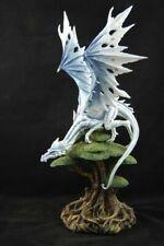 weißer großer Drache 56 cm hoch mit Steckflügel Fantasy Figur