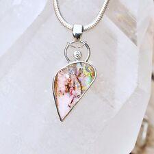 Boulder Opal Anhänger, 925er Silber, Edelsteinanhänger (11881), mit Brilliant