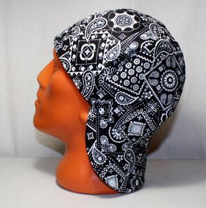 #12. Black Bandana Welders Hats, Bikers Caps, Welding Cap Hat, Cotton.