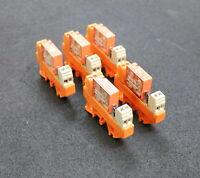 WEIDMÜLLER / SCHRACK 5 Stück Leistungsrelais RP011024 4kV 10A 250ac 240VAC 0,1HP
