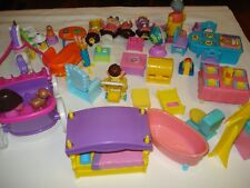 Dora Explorer Lot - Figures And Furniture
